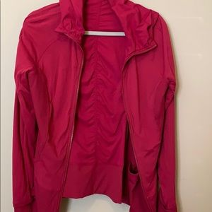 Lululemon fuchsia reversible jacket with hood.